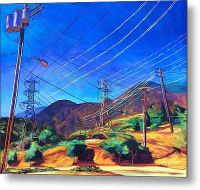 San Gabriel Power Metal Print