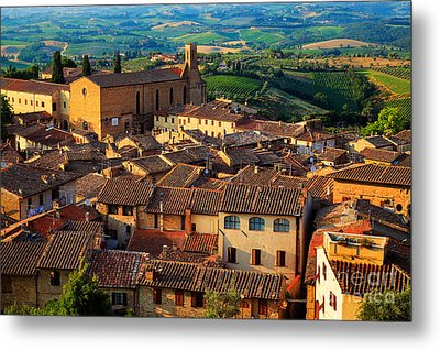 San Gimignano From Above Metal Print by Inge Johnsson