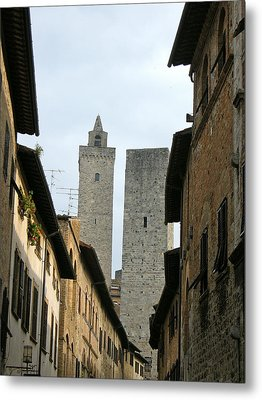 Metal Print featuring the photograph San Gimignano Italy by Victoria Lakes
