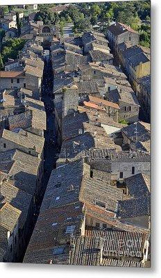 San Gimignano Main Street Metal Print by Sami Sarkis