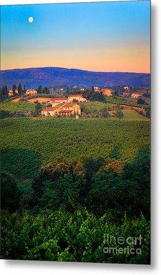 San Gimignano Vineyards Metal Print by Inge Johnsson