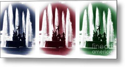San Juan Fountain Colors Metal Print by John Rizzuto