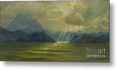 Metal Print featuring the painting San Juan Islands by Jeanette French
