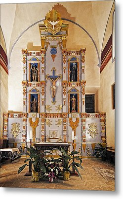 Metal Print featuring the photograph San Juan Mission Altar by Andy Crawford