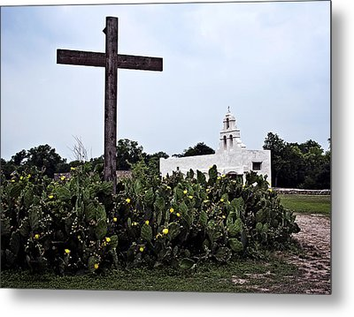 Metal Print featuring the photograph San Juan Mission by Andy Crawford