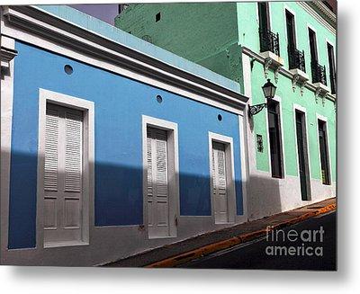 San Juan Street Colors Metal Print by John Rizzuto