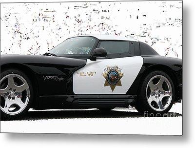 San Luis Obispo County Sheriff Viper Patrol Car Metal Print