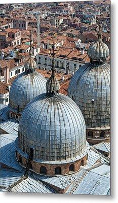San Marco Basilica. Venice. Metal Print by Fernando Barozza