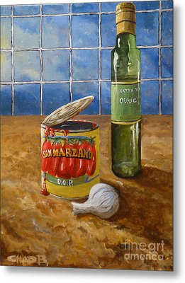 Metal Print featuring the painting San Marzano by Chad Berglund