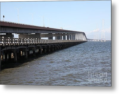 San Mateo Bridge In The California Bay Area 5d21892 Metal Print by Wingsdomain Art and Photography