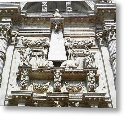 San Moise Church In Venice Italy  Metal Print by Irina Sztukowski