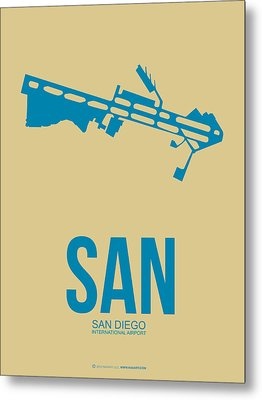 San San Diego Airport Poster 3 Metal Print