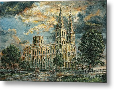 San Sebastian Church 1800s Metal Print by Joey Agbayani