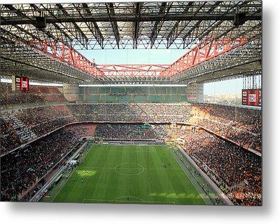 San Siro Stadium Metal Print by Valentino Visentini
