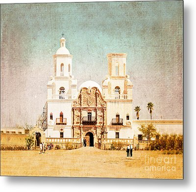 Metal Print featuring the photograph San Xavier Del Bac Mission by Marianne Jensen
