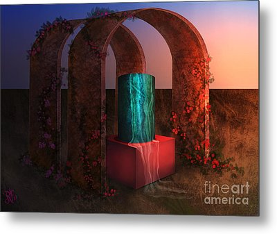 Sanctuary Of Light Metal Print by Rosa Cobos