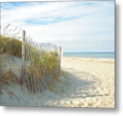 Sand Beach Ocean And Dunes Metal Print
