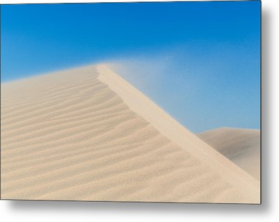 Sand Blowing Off A Dune Metal Print