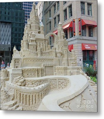Sand Castle Metal Print by James Dolan