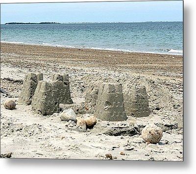 Sand Castle Metal Print by Janice Drew