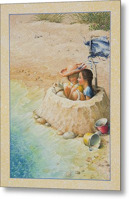 Sand Castle Metal Print by Lynn Bywaters