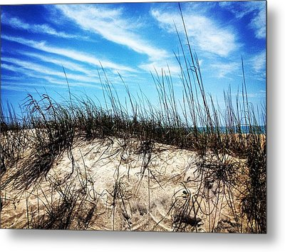 Sand Dune At Alantic Beach Metal Print by Joan Meyland
