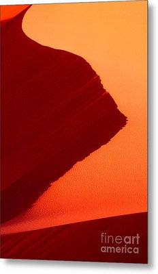 Metal Print featuring the photograph Sand Dune Curves Coral Pink Sand Dunes Arizona by Dave Welling