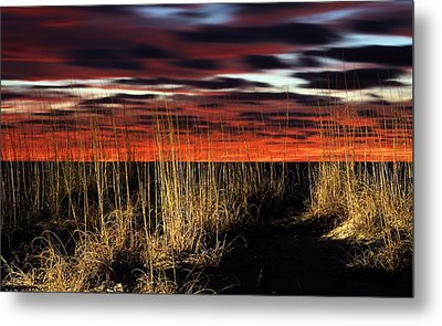 Sand Dune Sunrise Metal Print by JC Findley