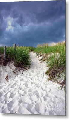 Metal Print featuring the photograph Sand Dune Under Storm by Olivier Le Queinec