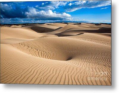 Sand Dune Vortex Metal Print