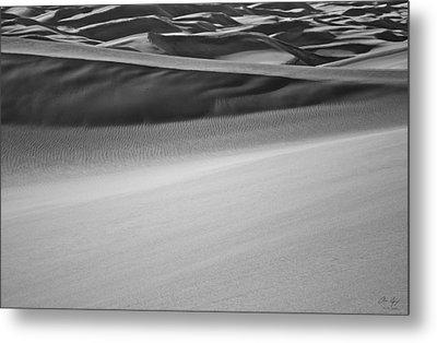 Sand Dunes Abstract Metal Print