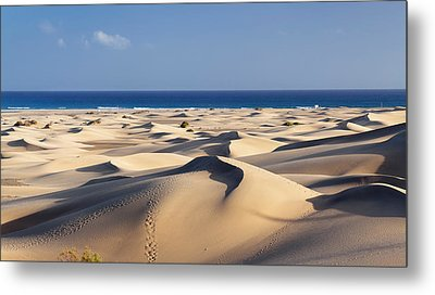 Sand Dunes In A Desert, Maspalomas Metal Print by Panoramic Images