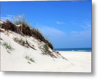 Sand Dunes Of Corolla Outer Banks Obx Metal Print by Design Turnpike