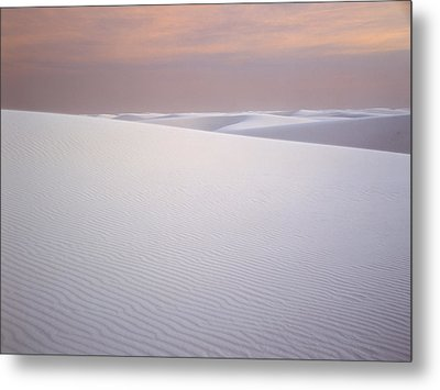 Sand Dunes Of Gypsum In The Morning Metal Print by Panoramic Images