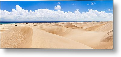 Sand Dunes On The Beach, Maspalomas Metal Print by Panoramic Images