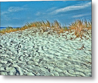 Metal Print featuring the photograph Sand In My Shoes by Oscar Alvarez Jr