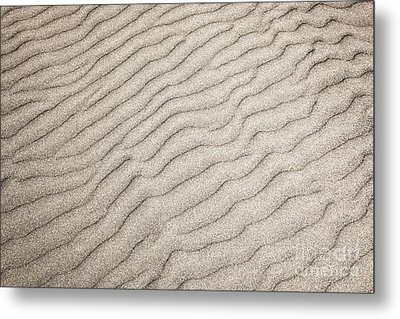 Sand Ripples Natural Abstract Metal Print by Elena Elisseeva