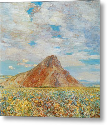 Sand Springs Butte Metal Print by Childe Hassam