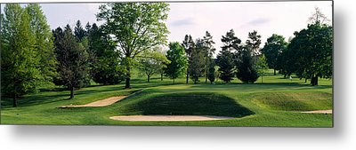 Sand Traps On A Golf Course, Baltimore Metal Print by Panoramic Images