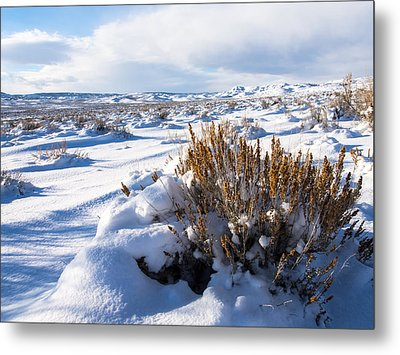Sand Wash Basin In The Winter Metal Print