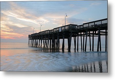 Sandbridge Pier Metal Print