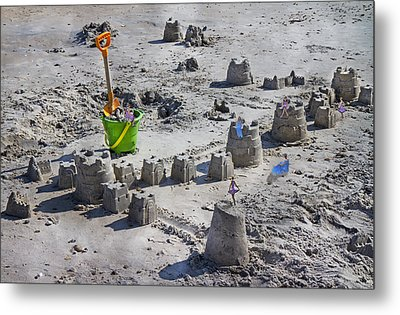 Sandcastle Squatters Metal Print