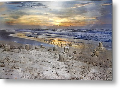 Sandcastle Sunrise Metal Print