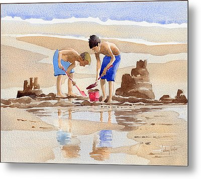 Sandcastles Metal Print by Anthony Forster