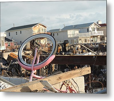 Sandee's Bike Metal Print by Laurence Van Oliver