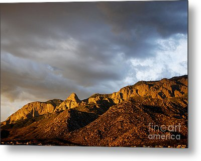 Metal Print featuring the photograph Sandia Mountains by Gina Savage