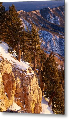 Sandia Peak Summit Albuquerque New Mexico Metal Print by Mary Lee Dereske
