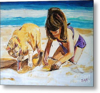 Sandi's Helper Metal Print