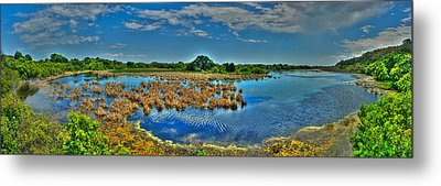 Metal Print featuring the photograph Sandpiper Pond Panorama by Ed Roberts