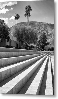 Sandpiper Stairs Bw Palm Desert Metal Print by William Dey
